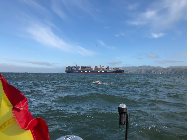 swimming outside GGB