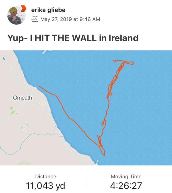 Ireland Hitting my wall